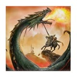 Saint George and the Dragon Tile Coaster