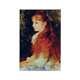 Irene by Renoir Rectangle Magnet
