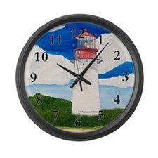 SunnyDay At Cape May Large Wall Clock
