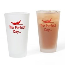 Perfect Day Airplane Drinking Glass