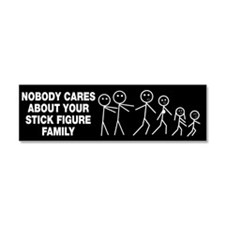 Anti Stick Figure Family Car Magnet 10 x 3