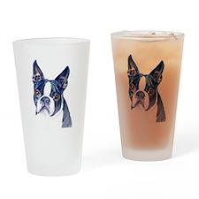 Cute Boston terriers Drinking Glass