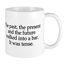 Past Present Future Tense Small Mugs