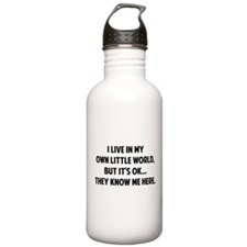 They Know Me Here Sports Water Bottle
