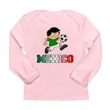 Mexican Soccer (Football) Long Sleeve Infant T-Shi