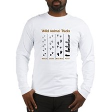 Wild Animal Tracks Long Sleeve T-Shirt