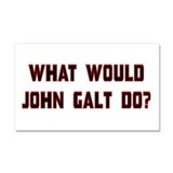 What Would J. Galt Do? Car Magnet 20 x 12