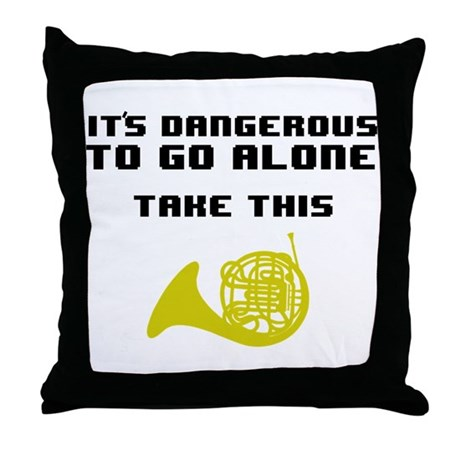 Take the Horn Throw Pillow