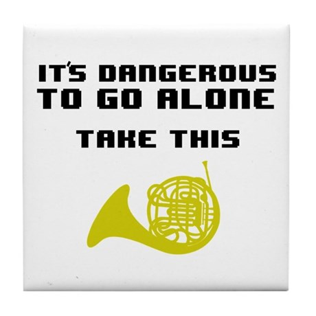 Take the Horn Tile Coaster
