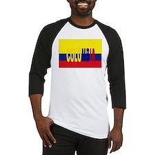 Colombia flag & written Baseball Jersey