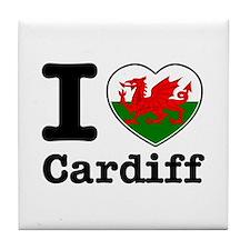 I love Cardiff Tile Coaster