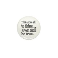 Shakespeare To Thy Own Self Be True Mini Button (1