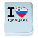 I love Ljubljana baby blanket