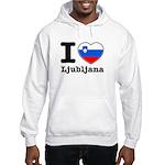 I love Ljubljana Hooded Sweatshirt