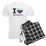 I love Ljubljana Men's Light Pajamas