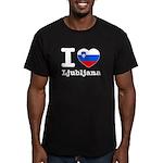I love Ljubljana Men's Fitted T-Shirt (dark)
