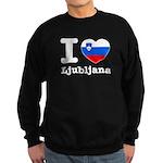 I love Ljubljana Sweatshirt (dark)