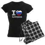 I love Ljubljana Women's Dark Pajamas