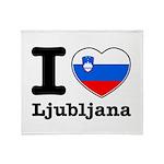 I love Ljubljana Throw Blanket