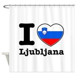 I love Ljubljana Shower Curtain