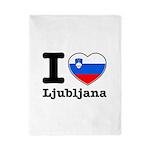 I love Ljubljana Twin Duvet