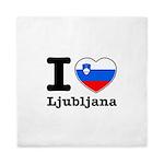 I love Ljubljana Queen Duvet