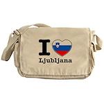 I love Ljubljana Messenger Bag