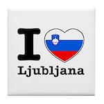 I love Ljubljana Tile Coaster