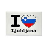 I love Ljubljana Rectangle Magnet (100 pack)