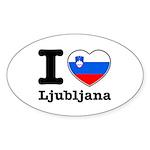 I love Ljubljana Sticker (Oval 50 pk)