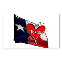 Love Texas II Rectangle Sticker
