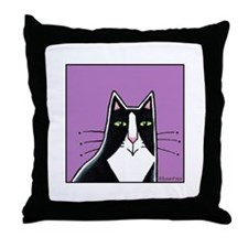 TUXEDO CAT... Whimsical Throw Pillow