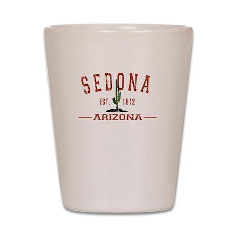 Sedona, AZ - Athletic Shot Glass