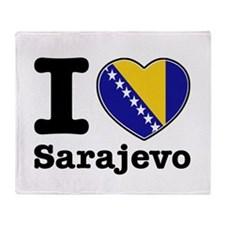 I love Sarajevo Throw Blanket