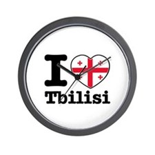 I love Tbilisi Wall Clock
