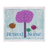 Retired Nurse Throw Blanket