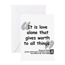 Saint Teresa Love Quote Greeting Card