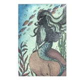Border Collie dog mermaid Postcards (Package of 8)