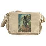 Border Collie dog mermaid Messenger Bag