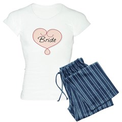 heart bridal pajamas
