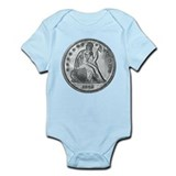 1862 Silver Coin Infant Bodysuit
