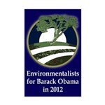 Environmentalists for Barack Obama Poster