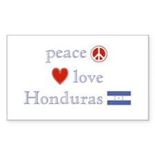 Peace, Love and Honduras Decal