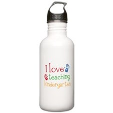 I Love Teaching Kindergarten Water Bottle
