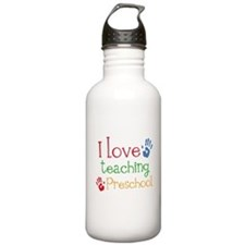 I Love Teaching Preschool Sports Water Bottle