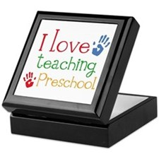 I Love Teaching Preschool Keepsake Box