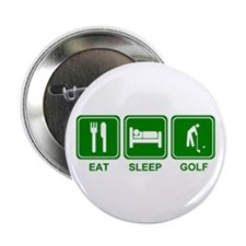 "Eat Sleep GOLF 2.25"" Button (100 pack)"