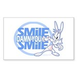 Crazy Bunny Rectangle Sticker