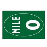 Mile 0 Stickers Postcards (Package of 8)