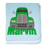 Trucker Marvin baby blanket